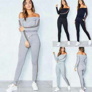 Terno Off Shoulder Top and Track Pants