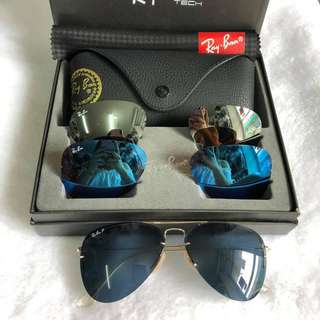 Flip out ray ban aviator