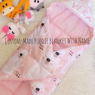 Custom-Made Hoodie Blanket With Name