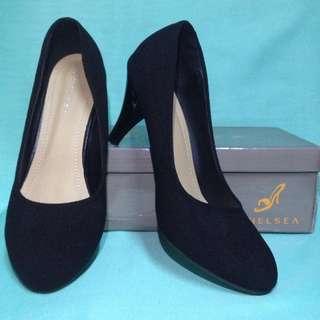 3 inch chelsea black heels