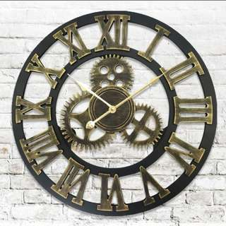 European retro wall clock