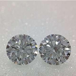 IGI Certified Lab Grown Diamond Pair E Vs2 1.23Ct Each