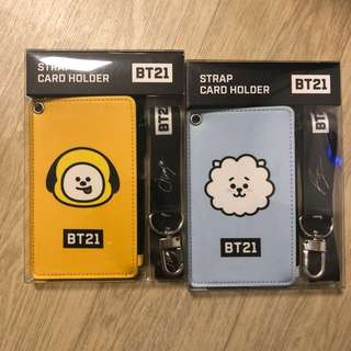 BT21 STRAP CARD HOLDER