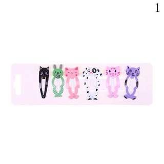 6pcs. Animal snap clip