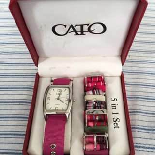 Preloved CATO watch 5 in 1 set
