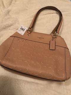 Coach Bag Nude Pink Signature Leather BRKE