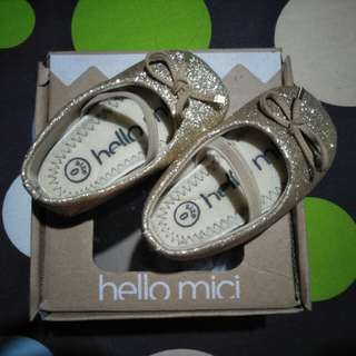 Baby Shoes Hello Mici Gold 0-6m