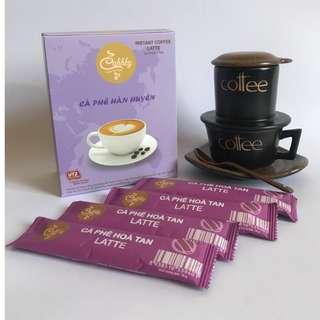 🚚 UTZ國際認證豆 LATTE 即溶咖啡沖泡包(咖啡+脫脂奶粉)翰萱咖啡Cà phê Hàn Huyên