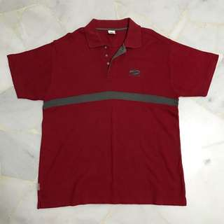BROOK polo tee in red