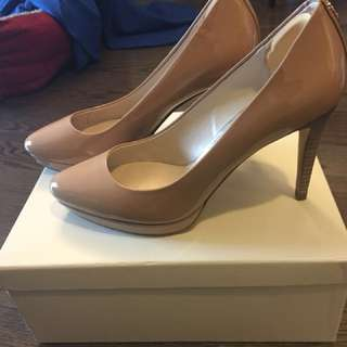Coach nude heel 6M worn once only! New price