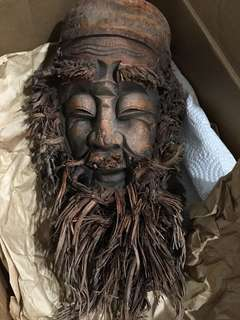 Vintage bamboo roots ( face of a old man )