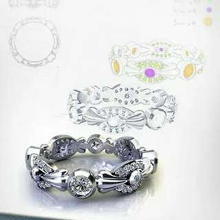 CAD drawing 3D rendering jewelry