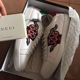 Gucci White snake ace sneaker kw premium