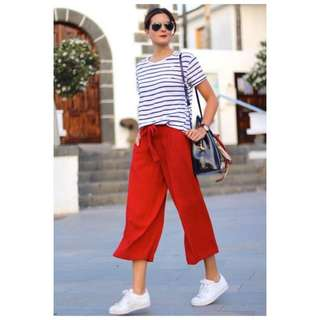 Stripe Top & Red Pants TERNO