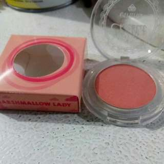 Emina cheeklit pressed blush on shade marshmallow lady