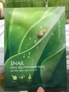 snail solution mask sheet nature republic