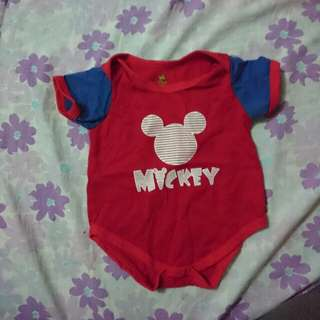 Mickey Mouse Onesie (0-6mos)