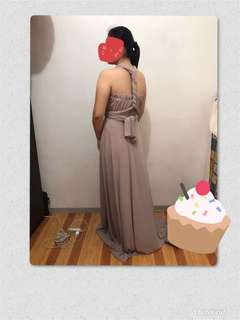Infinity dress nude color