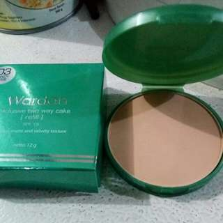 Wardah exclusive two way cake refill shade 03 sandy beige
