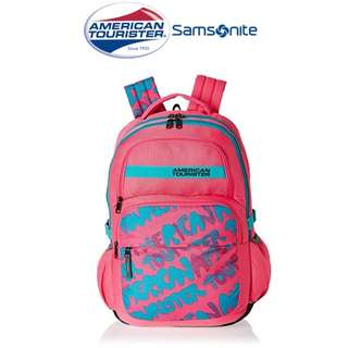 American Tourister by Samsonite Hoola Large Unisex Backpack-PINK (Converted SRP of 3,109Php + )