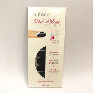 Incoco 貼式指甲油,一貼即乾!100% Real Nail Polish  Strips, Dry Immediately! (Made in USA!) [Colour: Nightfall]