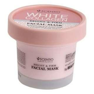 White collagen facial mask