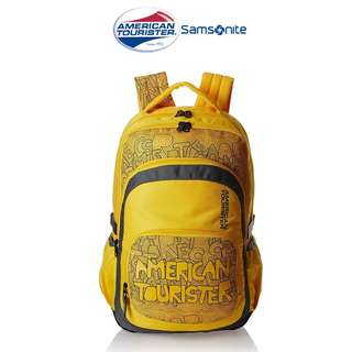 American Tourister by Samsonite Hoola Large Unisex Backpack- YELLOW (Converted SRP of 3,109Php + )