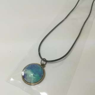 Sky blue galaxy necklace
