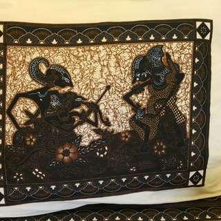Batik wayang sarung bantal & guling