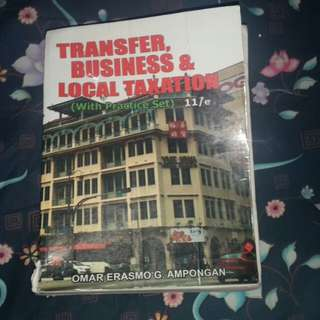 Taxation, Financial Management, BusLaw