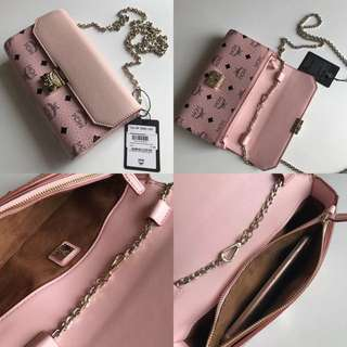 MCM Sling bag/ Wallet in pink
