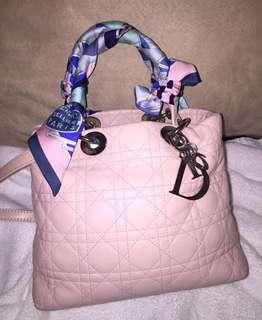 Lady Dior pink colour leather bag 鏈袋 背包 背囊 Prada wallet Backpack vintage