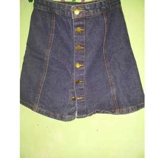 bottoms down blue maong skirt fit to small and medium