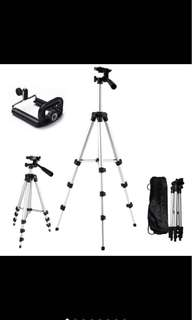 (🔥FREE POSTAGE🔥) CAMERA DSLR Tripod EXTENDABLE Stan 4 sections with free phone holder