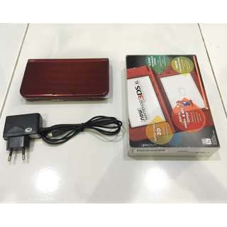 Used N3DSXL Metallic Red (6months warranty) (free modding)