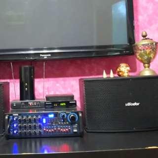 Karaoke Set (Amplifier with 2 Vlliodor speaker)