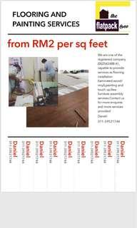 Installing laminated flooring,painting
