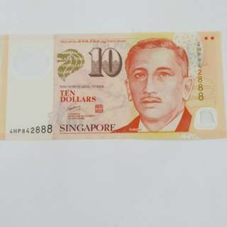 $10 with last 3 nos 888 ◆◆