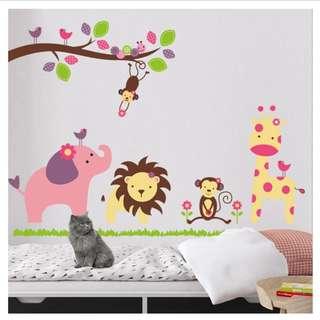 Animal wall sticker children's room kindergarten classroom Home decor