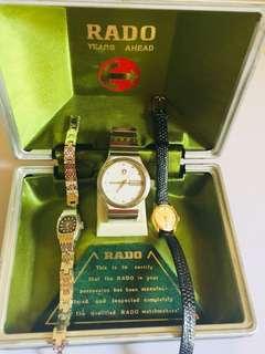 vintage Rado watch collections