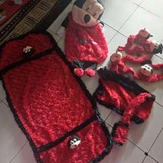5in1 Home Set Mickey Mouse, Cover Galon, Kulkas, Bando kipas