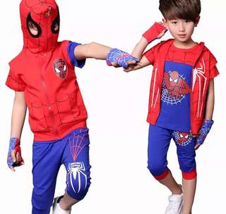 Brand new Spider-Man kids top with jacket and hoodie with Spider-Man, pants and Spider-Man glove