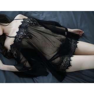 *FREE SHIPPING*READY STOCK* Sexy Lingerie/ Sleepwear/ Nightwear/ Off-shoulder Plus Size Dress