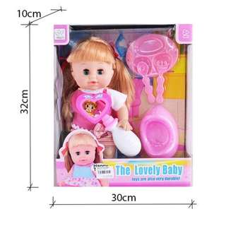 The Lovely Baby Doll with Sound and Potty Accessories