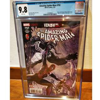 Amazing Spider-Man #792 - 1st Appearance Of Maniac - CGC 9.8 White Pages