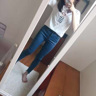 🚚 韓版趣味女孩插畫短袖T恤