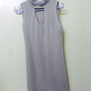 Grey Cotton Dress.