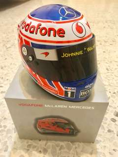 Vodafone McLaren Mercedes 1:2 Mini F1 Helmet 2013 Jenson Button