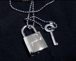 agnes b block & key necklace