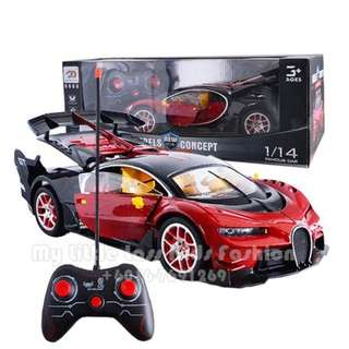 Radio Control 114 Scale model Remote Control Racing Car Open Door RED